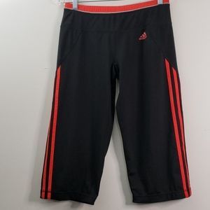 Adidas Black and Orange Cropped Pant Size S